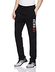 Aeropostale Mens Slim Fit Sweatpants (AE1001436001_Black_34)