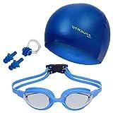 Strauss Swimming Goggles Set, (Blue)
