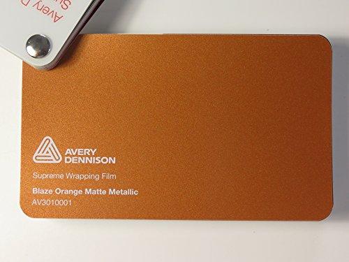 ng Film Serie Blaze Orange Matt Metallic gegossene Autofolie 500 x 152 cm Zuschnitt ()