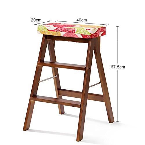 BJL-Step Hocker Massivholz-faltender Schritt-Schemel-Leiter für Erwachsen-Küche Hölzerner beweglicher Faltbarer Trittleiter-Multifunktionshoher Schemel-Bank OYO (Color : #6) - Sechs Lampen Bad Möbel