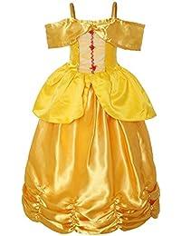 ReliBeauty – Fille – robe de princesse – épaule nue – l'ourlet ruché