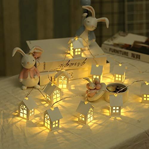 Muzhili3 LED-Lichterkette, 2 m, LED, Weihnachtsbaum, Haus Stil, Neujahr, Dekoration - Batterie, USB - Radio-taschenlampe Betrieben Batterie