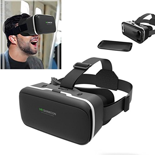 Sansee 3D Brille Virtual Reality Headset Filme Spiele Brillen 3.5-6.0 Zoll VR SHINECON 2.0
