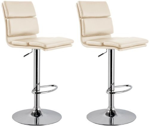 NEW Chester CREAM Breakfast Kitchen Leather Bar Stool x 2