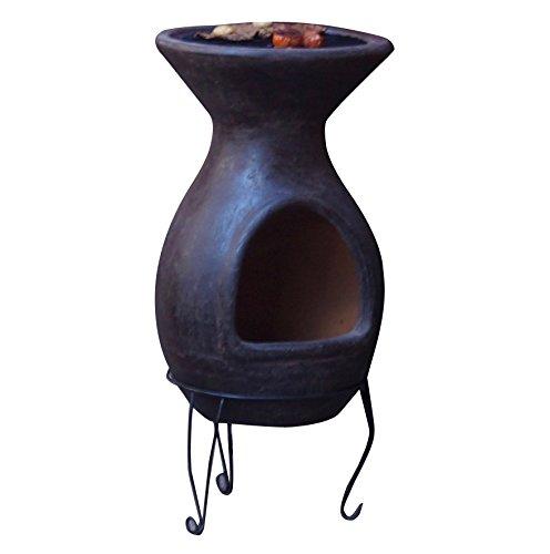 Sol-y-Yo Mexikanischer Terrassenofen Kamingrill, brauner Terrakottaofen 8892 BR - EIN archaisches Grillvergnügen