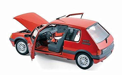 Voiture Miniature Peugeot 205 - Voiture PEUGEOT 205 GTI 1.6L 1988 Rouge