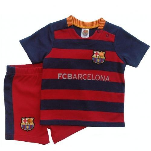 5dc57b386 Barcelona FC Official 2015 16 Football Kit Baby Shirt and Shorts Set (18 -