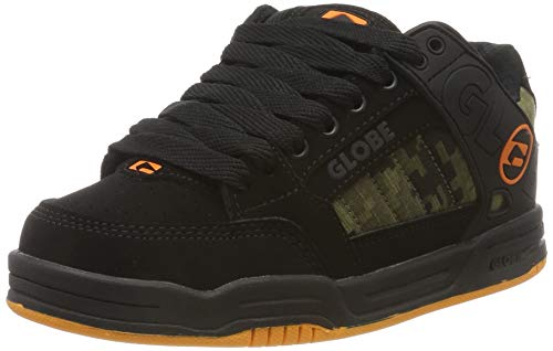 Globe Tilt-Kids, Scarpe da Skateboard Bambino, Nero (Black/Camo/Orange 20388), 38 EU