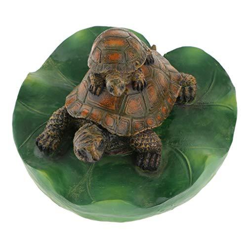 Homyl Schildkröte Schwimmfigur Teichdeko der Hingucker im Teich - 3# Dunkelbraune Familie (3-tier-garten-brunnen)