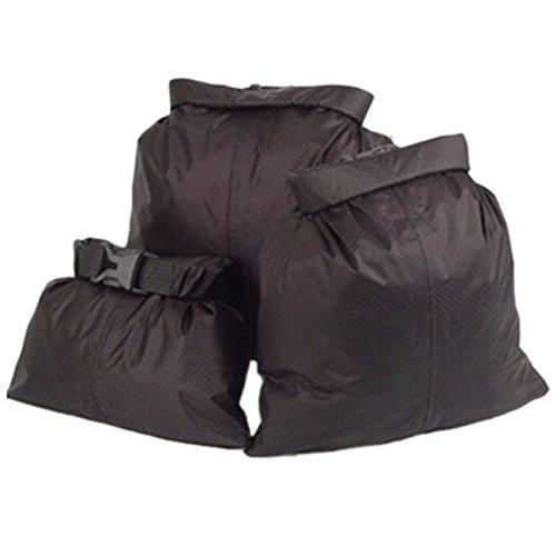 wasserdichten Beutel - LUCKSTONE Satz von 3 wasserdichten Beutel trockener Beutel Tasche Abdeckung 1.5 / 2.5 / 3.5 L Camping Kanusport schwarz