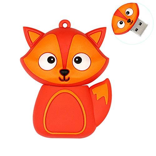 H&T Cute Animal Series Fox Form, USB-Flash-Laufwerk Memory Stick Lustige Pen Drive-Daumen-Antrieb Für Kind-Foto-Bild High Speed   Externer Speicher - Geschenk,64gb