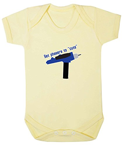 Set Phasers To Cute Babygrow. 18-24 Monate. Pale Yellow (Gelb Phaser)