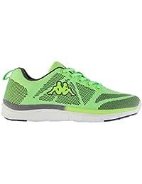Kappa Asilet Chaussures de course à pied pour femme Vert/gris Baskets Sneakers Chaussures de sports