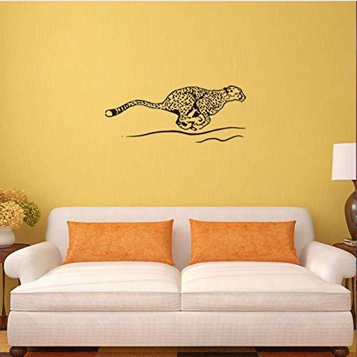 Hyllbb Kinderzimmer Dekoration Tier Flying Leopard Wandaufkleber Pvc Wasserdicht Aufkleber 46 * 114Cm (Flying Leopard)