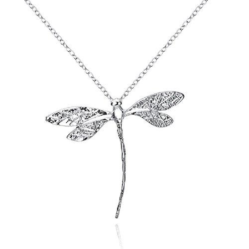 nhänger-Halskette 4.5 x 3.5 cm Mit 18-Zoll-Kette Drachen Fliege Insekt Schmetterling Flügel ()