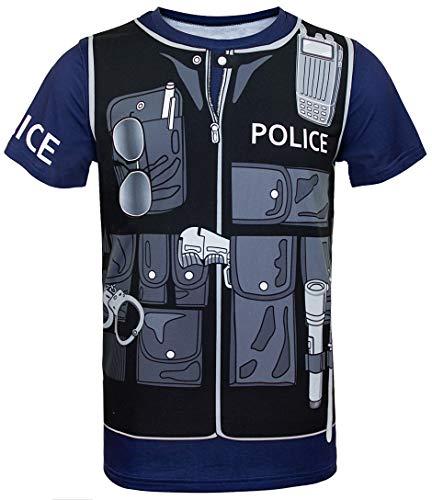 Cosavorock Polizei Kostüm Uniform T-Shirts Herren (M, Marineblau)