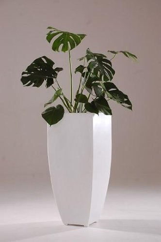 vivanno planters made of fiberglass cubic white 90cm starbucks smoothie ingredients