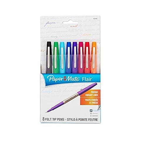 Paper Mate Flair Porous-Point Felt Tip Pen, Ultra-Fine, Core Colors,