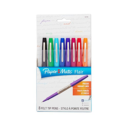 paper-mate-flair-porous-point-felt-tip-pen-ultra-fine-8-pack-core-colors-62145