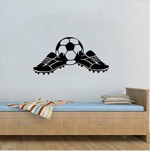 TOYP Coolste Fußballschuhe Fußball Jungen Sport Wandaufkleber Kinderzimmer Badezimmer Schlafzimmer Wohnzimmer Bar Fenster Wohnzimmer 34,1 cm * 69 cm
