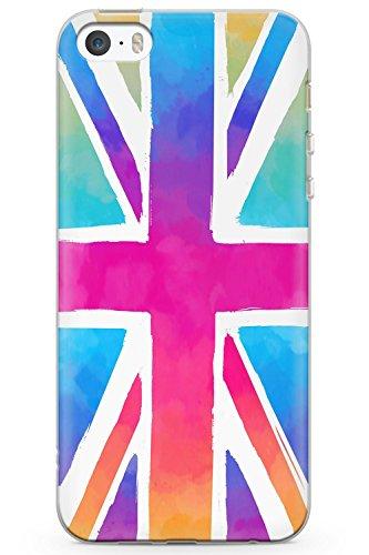 Case Chimp iPhone 5/5s/SE Union Jack Krawatten-Flagge Schutz Gummi Handyhülle TPU Bumper England Schottland Wales Irland London