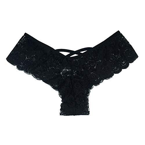 Suitray Damen Sexy Unterwäsche Frauen Erotisch Zurück öffnen Krawatte Slip Briefs String Unterhose Nachtwäsche Nachthemd Sleepwear Nachthemden - Leder-unterwäsche-set