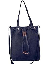 Bolso Bandolera Bolsa de hombro de lona Grande para Mujer y Shoppers por ESAILQ F