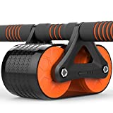 Bauch Rad Doppelrad Automatische Rebound Brake Fitness Rad Sport Roller Home Fitnessgeräte Bauch Bauch (Color : Orange)