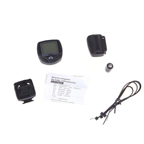 tourwin Sunding sans fil sd-546C Compteur vélo Ordinateur de vélo écran LCD rétroéclairé Odomètre Compteur automatique Fonction