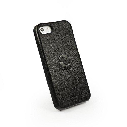 Tuff-Luv Tuff-Grip Custodia in similpelle per Apple iPhone 5 / 5s (con protettore di schermo) - nero Black