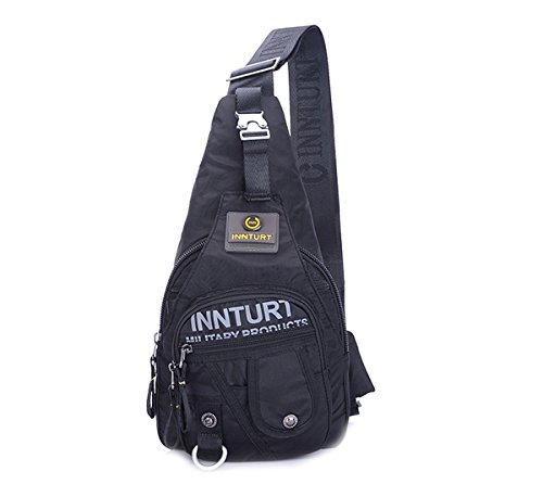 Innturt Bodybag-Rucksack, Nylon, Tagesrucksack - Medium-Black (Nylon-tasche Medium)