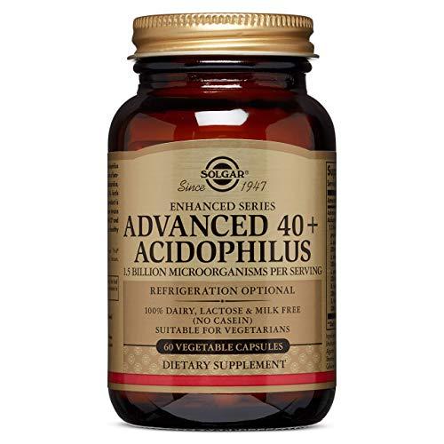 Solgar 40+ Acidophilus Avanzado, Probiótico para el Mantenimiento de una Flora Intestinal...