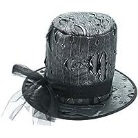 Gotica d argento cilindro   carnevale nero Halloween cappello Steampunk 3e73f2775b45