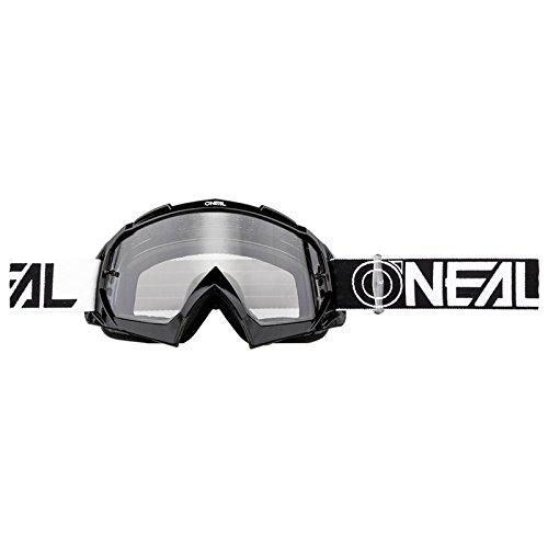 O'Neal B-10 Goggle Twoface Crossbrille Klar Motocross DH Downhill MX Anti-Fog Glas, 6024-21, Farbe schwarz