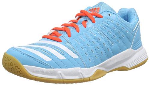 adidas Essence 12, Scarpe da pallamano donna Blu (Blau (Bright Cyan/Bright Cyan/Solar Red))