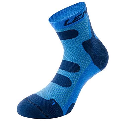 Lenz Kompression Socken 4.0 Low Kurz Sport Geruchsneutral Damen Herren Strümpfe Outdoor, 139, Farbe Marine Blau, Größe 39-41 -