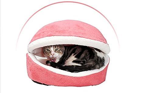 umall Katzenbett Hamburger rund Bett Fleece Polsterung für Katzen Innen weich Kissen Mats