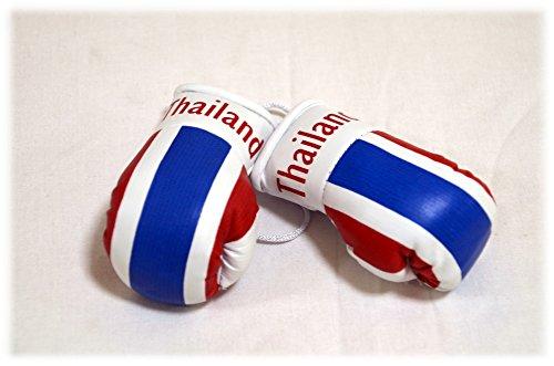 Preisvergleich Produktbild Mini Boxhandschuhe THAILAND, 1 Paar (2 Stück) Miniboxhandschuhe z. B. für Auto-Innenspiegel