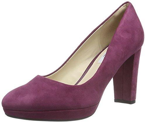 Clarks Damen Kendra Sienna Pumps, Violett (Plum Suede), 39.5 EU