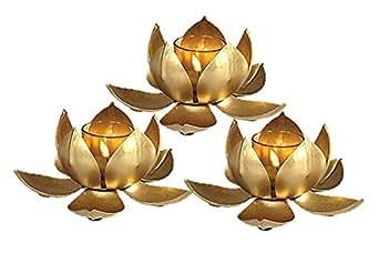 Inspiration World Decorative Lotus Tealight Set / 3