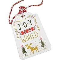 Da.Wa 50PCS Etiquetas Del Regalo de Christmas Tags Merry Christmas Con 32 Pies de Hilo de Algodón