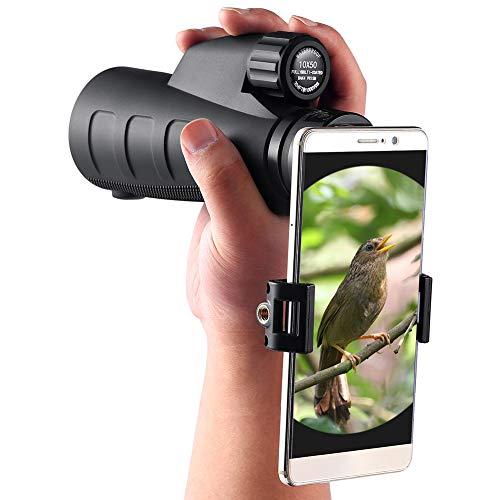 QAQ QP Monocular De Gran Aumento HD 10 × 50 Tiro Adultos Al Aire Libre Viajes Caza A Prueba De Agua Concierto Concierto Observación De Aves
