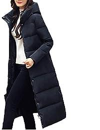 c26c01ba491 Fanessy Manteau Femme Hiver Doudoune Chaud Parka Noir Gris Bleu Longue  Blouson Chic élégant avec Capuche