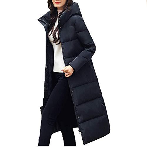 Fanessy Manteau Femme Hiver Doudoune Chaud Parka Noir Gris Bleu Longue Blouson Chic élégant avec Capuche épais Trenche Grande Taille Duvet en Coton