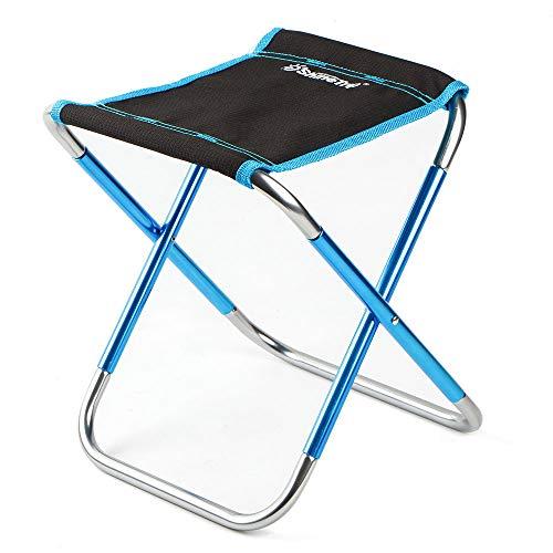 Yazidan Campingstuhl Moonchair Bequemer Campingsessel Faltbar Gartenstuhl verstellbar | leichte Bauweise | atmungsaktiver Bezug | Klappstuhl Campingstuhl Gartenmöbel Aluminium