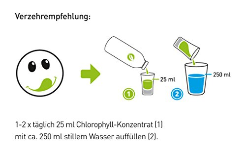 Liquid Chlorophyll aus Alfalfa mit Minzgeschmack- hochdosierter Monatsvorrat -1000ml - Basisch - Flüssiges Chlorophyll - Konzentrat - Made in Germany - 4