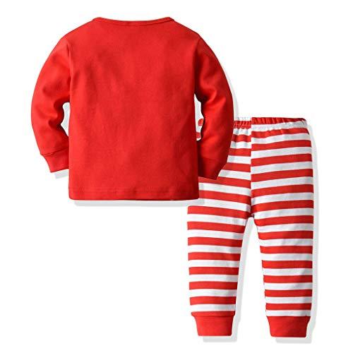 Comie Baby Kleidung Sets, Toddler Kids Baby Girl Boy Cartoon Print Top Stripe Pants Christmas Set Clothes, Süß Langärmliges Hemd - Dickens Of A Christmas Kostüm