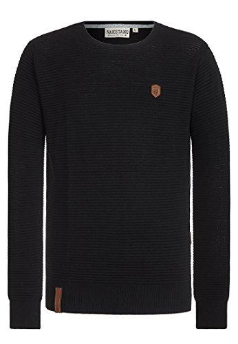 Naketano Male Knit Zapzarap Zip Zap Black, L (Zip Knit Pullover)