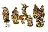 Presepe con 11 personaggi di 40 cm l'uno - 40 cm - Addobbi Natalizi - Luci di Natale