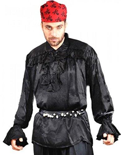 Roche Brasiliano Piraten Shirt - Black, - Kostüm Brasiliano